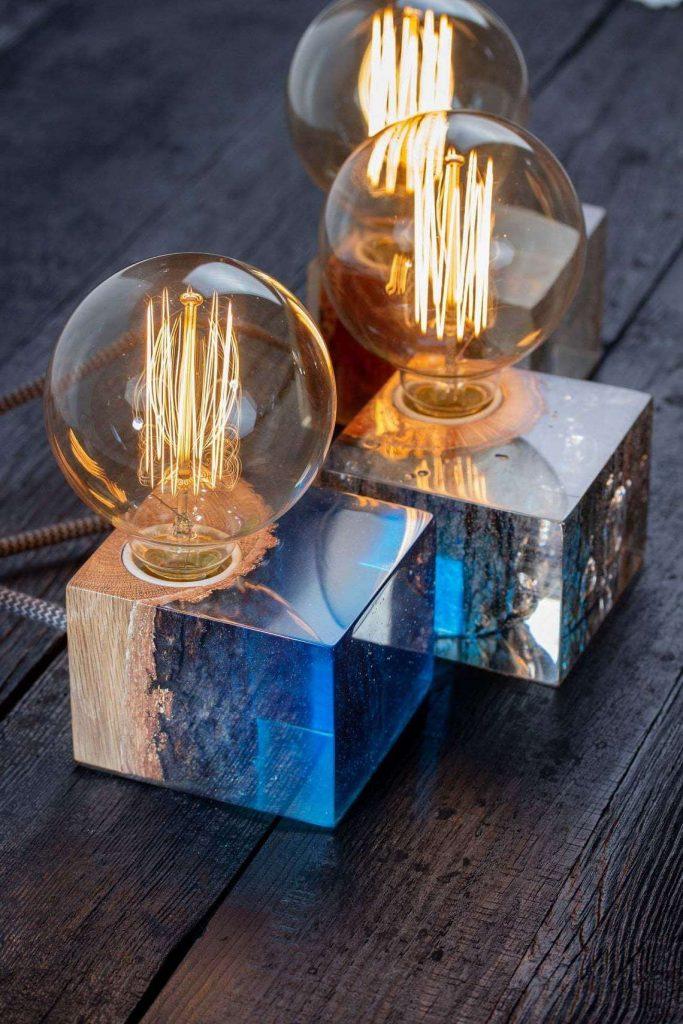 Эксклюзивный светильник из эпоксидки