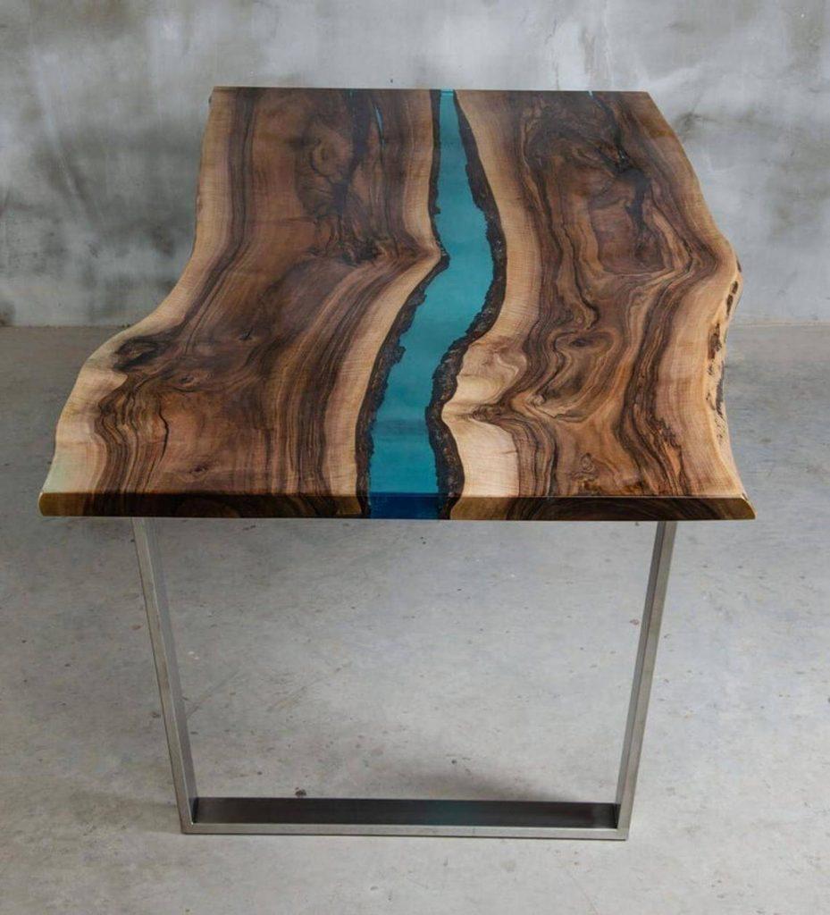 Креативный стол из эпоксидной смолы