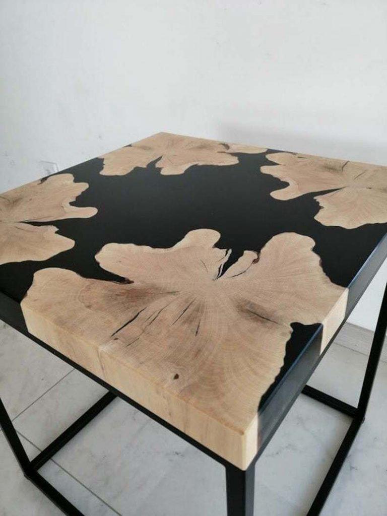 Дизайнерский журнальный стол из эпоксидной смолы от AceWood