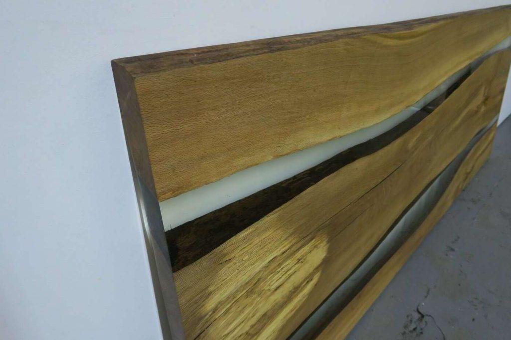 Дизайнерская столешница из дерева и эпоксидки