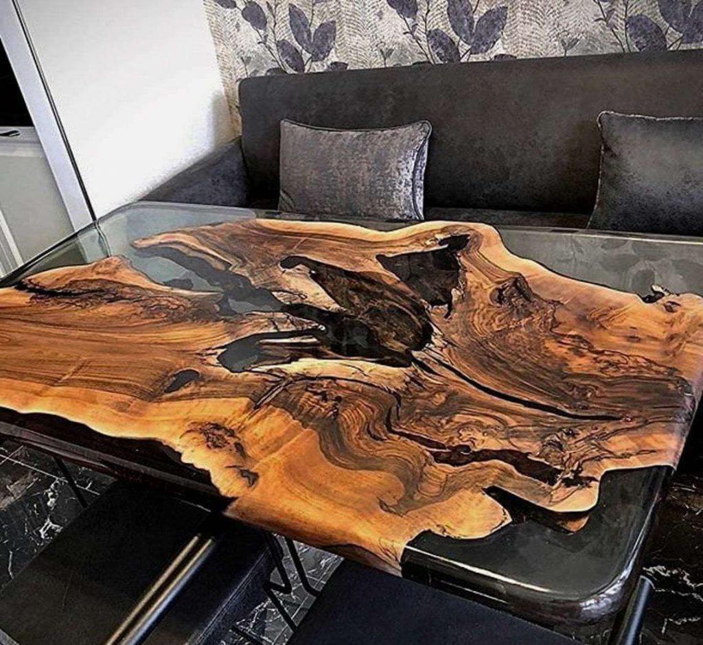 Дизайнерский обеденный стол из эпоксидки