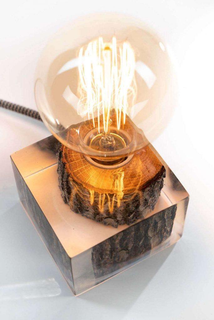 Дизайнерский светильник из эпоксидки